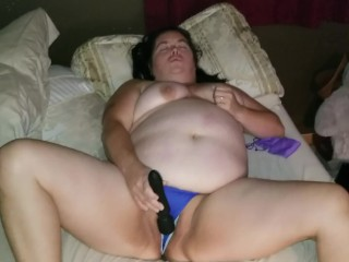 Sexy BBW Plays in Sold Panties and Shakes Her Beautiful Ass at the End