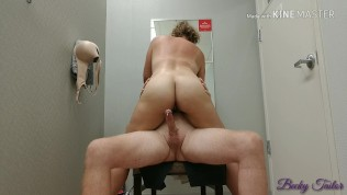 Quickie public fuck in J.C. Penney dressing room