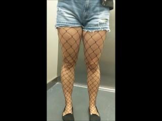 I fuck and cum inside my tinder date in fishnet stockings - eroyamka
