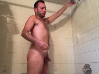 You Wish You Could Join Scotty In The Shower - Show Cum Masturbation