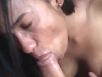 very deep blowjob