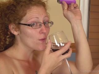 Natural Redhead Milf Ivy Rides a Dildo while having Multiple Orgasms