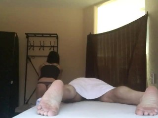 Slutty Masseuse Gives Happy Ending Massage - Hidden Camera