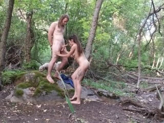 Teen nympho fucking on family camping trip