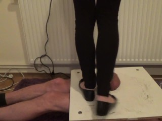 Stomping and jumping on cock and balls in balerinas – Cruel CBT Trample