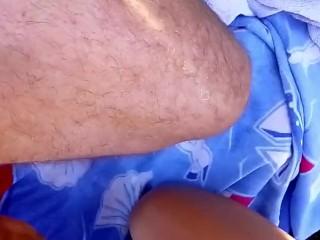 blowjob in public beach blonde