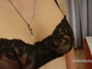RealDaddysAngel strap on and fists guy in lingerie: femdom anal hard fuck
