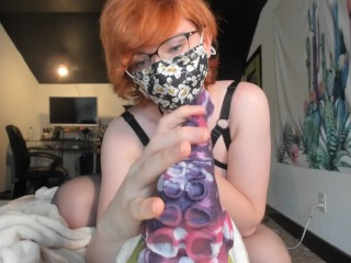Clumsy Trans Girl Gets Creampie From Bad Dragon Toy