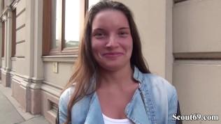 GERMAN SCOUT - SCHLANKER ANITA B OHNE GUMMI IN ARSCH GEFICKT BEI CASTING