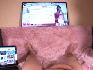 Play Nutaku Games and Fuck my Mouth! POV Blowjob! Mouthful of Cum!