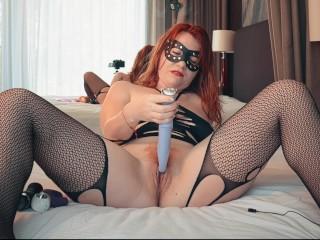 Wet Hairy Redhead Creamy Pussy Queef and Fart - Redhead Multi Dildo Orgasm