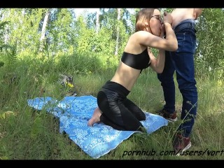 Real Amateur Public Sex in Forest Outdoor
