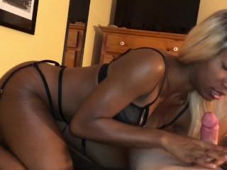 Hot Black Teen + Lucky White Dick = Huge Creampie POV