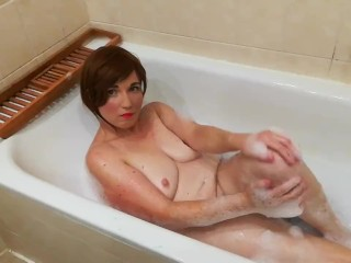Wife Teases Hubby in the Bathtub