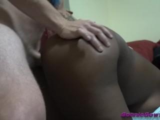 Male/white/cum girl black interracial for