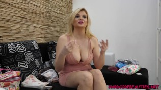 Blowjob Interview with Bouncing big titted blonde Katy Jayne