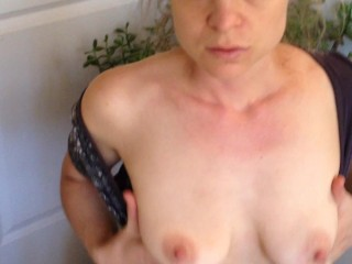 Amateur blonde gets cum in mouth while sucking on my dick - Matthias Christ