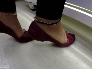 Uni Student Pervs on Teacher & Gets a Footjob in Science Lab - Loren Love