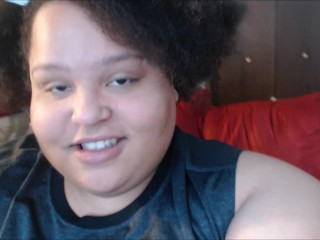 SSBBW Belly and Breast Play