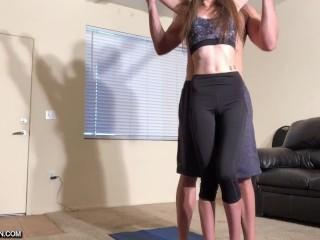 Kyler Quinn Throated, Fucked, & Swallows Yoga Instructors Cum
