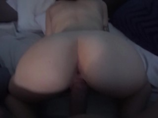 petite brunette gets fucked hard and filled up