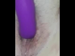 BBW MILF FUCKS HER CREAMY PUSSY(First masterbating video ever!)