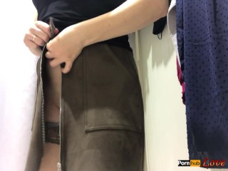 Masturbation in the Public Changing Room - Real Orgasm