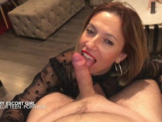 Hot and sexy boss Miss Ania fucked hard with assistant in sexy dress and stockings big CUM on face