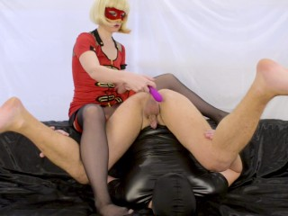 My cum slave compilation - strapon pegging milking cum kiss cum lubricant
