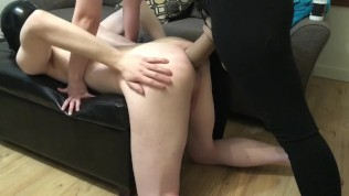 Mistress pegging Her boyfriend with HUGE 'El Rey' dildo from Mr. Hankey
