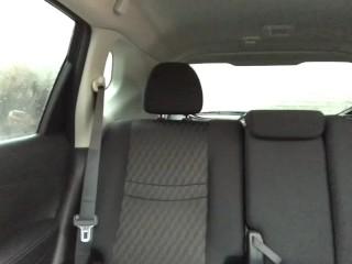 Stripper twerks & masturbates on the back seat in crowded parking lot. HOT