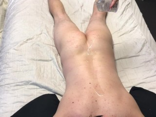 Pregnant Girlfriend Massages and Rubs Pussy All Over Guy - VERY EROTIC!