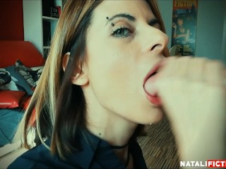 Pussy filling Mouth Bj, I Suck his Willy, he Cums inside my oral two times