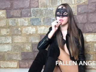 SMOKING HAIRY PUSSY GIRL PLAY ANAL WITH BBC