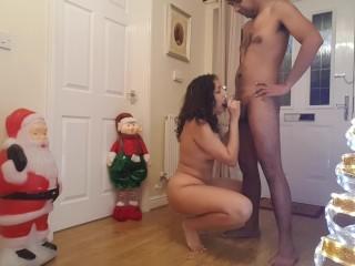 Santa/blowjob/facial rough cumshot dogging festive