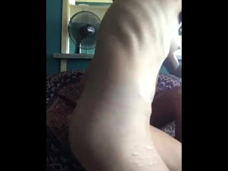 Sexy GF sucks and fucks her man in the living room.