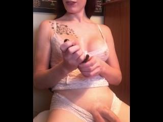 Tattoos/dildos toys/jerking off cumshot dick