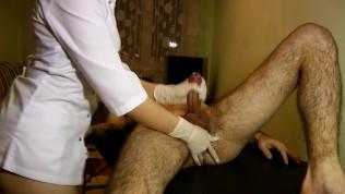 Hot Nurse Does Perfect Prostate Massage – POV Impulsive Chest Cumshot