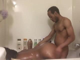 Bathroom fun with daddy pt 2