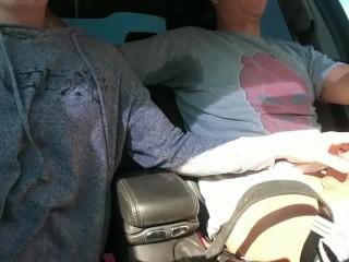 Draining His Balls On Public Road – OurDirtyLilSecret