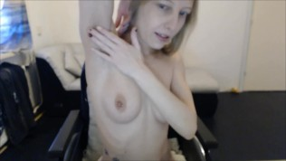 Chilling Fairy giving a hairy body tour in Wheelchair