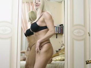 Lara De Santis - blowjob and some anal and cumshot on the big boobs