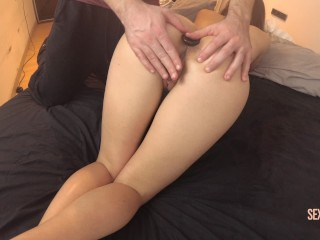 Fiery Attractive massage ending with Ass fuck Plug including Oral Cumshot SEXLUNI