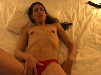 Sexy Milf Trying on Panties and Fingering Herself to Orgasm Pov Hotel Room