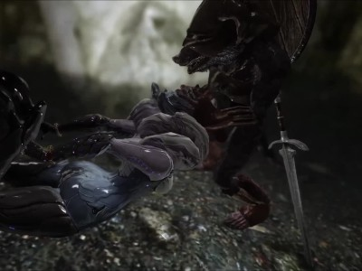 Skyrim Warframe Saryn and Rat Man