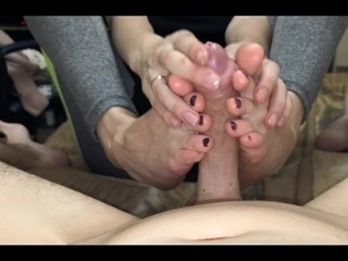 The Adult Video Experience Presents Footjob and handjob home made