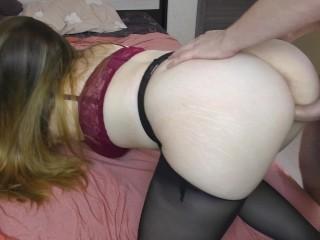 Teen Big Ass and Big Tits in Pantyhose nylon feet – assjob