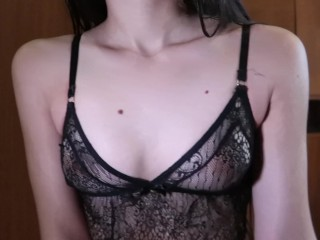 Wet hair and wet pussy. Teen loves to play with Dildo - MaryVincXXX