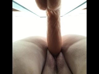 """Fat hungry pussy swallows 8"""" to shaking orgasm (dirty talk)"""