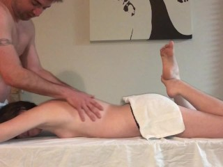 Oil Massage ends in ANAL CREAMPIE! I can't even!!!!